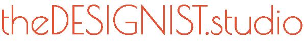 stylized The Designist Studio text logo